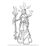 How to Draw Inara from Paladins
