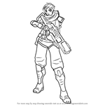 How to Draw Kinessa from Paladins