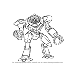 How to Draw Ruckus from Paladins
