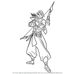 How to Draw Sha Lin from Paladins