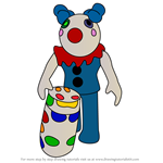 How to Draw Clowny from Piggy