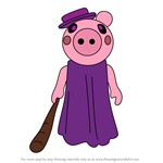 How to Draw Grandmother from Piggy