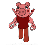 How to Draw Parasee from Piggy