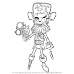 How to Draw Captain Deadbeard from Plants vs. Zombies - Garden Warfare 2