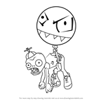How to Draw Balloon Zombie from Plants vs. Zombies