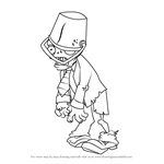 How to Draw Buckethead Zombie from Plants vs. Zombies