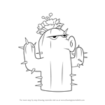 How to Draw Cactus from Plants vs. Zombies