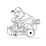 How to Draw Catapult Baseball Zombie from Plants vs. Zombies