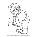 How to Draw Digger Zombie from Plants vs. Zombies