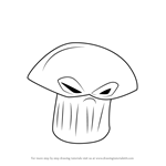 How to Draw Doom-shroom from Plants vs. Zombies