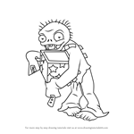 How to Draw Jack-in-the-Box Zombie from Plants vs. Zombies