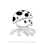 How to Draw Sea-shroom from Plants vs. Zombies