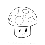 How to Draw Sun-shroom from Plants vs. Zombies