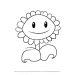 How to Draw Sunflower from Plants vs. Zombies