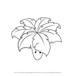 How to Draw Umbrella Leaf from Plants vs. Zombies