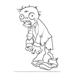 How to Draw Zombie from Plants vs. Zombies