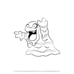 How to Draw Alola Grimer from Pokemon Sun and Moon