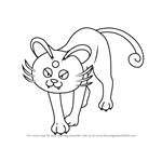 How to Draw Alola Persian from Pokemon Sun and Moon