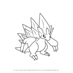 How to Draw Alola Sandslash from Pokemon Sun and Moon