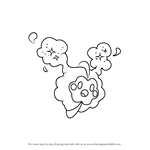 How to Draw Cosmog from Pokemon Sun and Moon