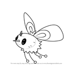 How to Draw Cutiefly from Pokemon Sun and Moon