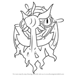 How to Draw Dhelmise from Pokemon Sun and Moon
