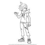 How to Draw Gladion from Pokemon Sun and Moon