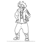 How to Draw Guzma from Pokemon Sun and Moon