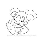 How to Draw Komala from Pokemon Sun and Moon