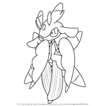 How to Draw Lurantis from Pokemon Sun and Moon