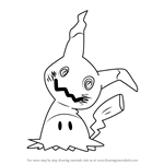 How to Draw Mimikyu from Pokemon Sun and Moon
