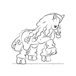 How to Draw Mudsdale from Pokemon Sun and Moon