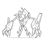 How to Draw Necrozma from Pokemon Sun and Moon