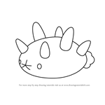 How to Draw Pyukumuku from Pokemon Sun and Moon