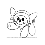 How to Draw Stufful from Pokemon Sun and Moon