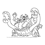 How to Draw UB-05 Glutton from Pokemon Sun and Moon