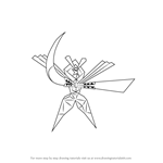 How to Draw UB-04 Blade from Pokemon Sun and Moon