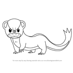 How to Draw Yungoos from Pokemon Sun and Moon