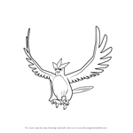 How to Draw Articuno from Pokemon GO