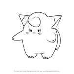 How to Draw Clefairy from Pokemon GO