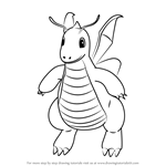 How to Draw Dragonite from Pokemon GO