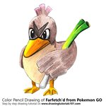 How to Draw Farfetch'd from Pokemon GO