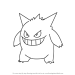 How to Draw Gengar from Pokemon GO