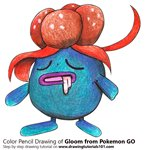 How to Draw Gloom from Pokemon GO