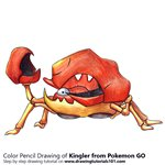 How to Draw Kingler from Pokemon GO