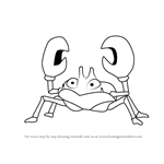 How to Draw Krabby from Pokemon GO