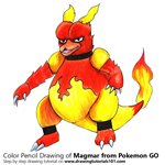 How to Draw Magmar from Pokemon GO