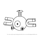 How to Draw Magnemite from Pokemon GO