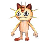 How to Draw Meowth from Pokemon GO