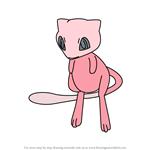 How to Draw Mew from Pokemon GO